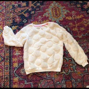 Xhilaration girls fuzzy sweatshirt GUC 10/12